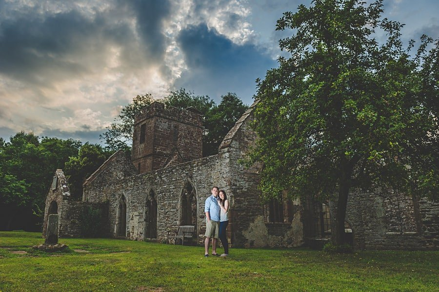 JL3 1063 - Sian & David's Engagement Session at The Ruined Church in Llanwarne in Herefordshire, West Midlands