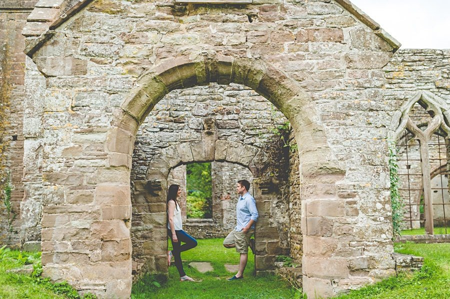 JL3 1081 - Sian & David's Engagement Session at The Ruined Church in Llanwarne in Herefordshire, West Midlands