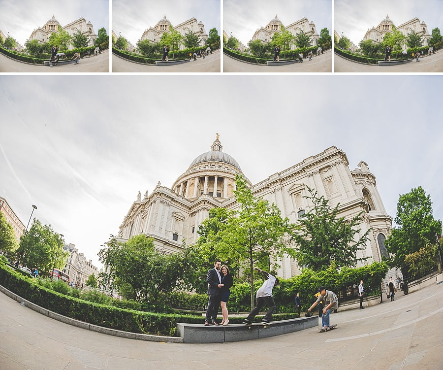 JL3 2215 - Rebecca & Dan's Pre-wedding photography in London @ St. Paul's Cathedral