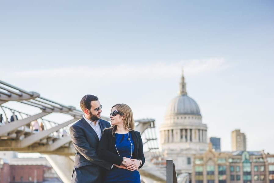 Rebecca & Dan's Pre-wedding photography in London @ St. Paul's Cathedral 47