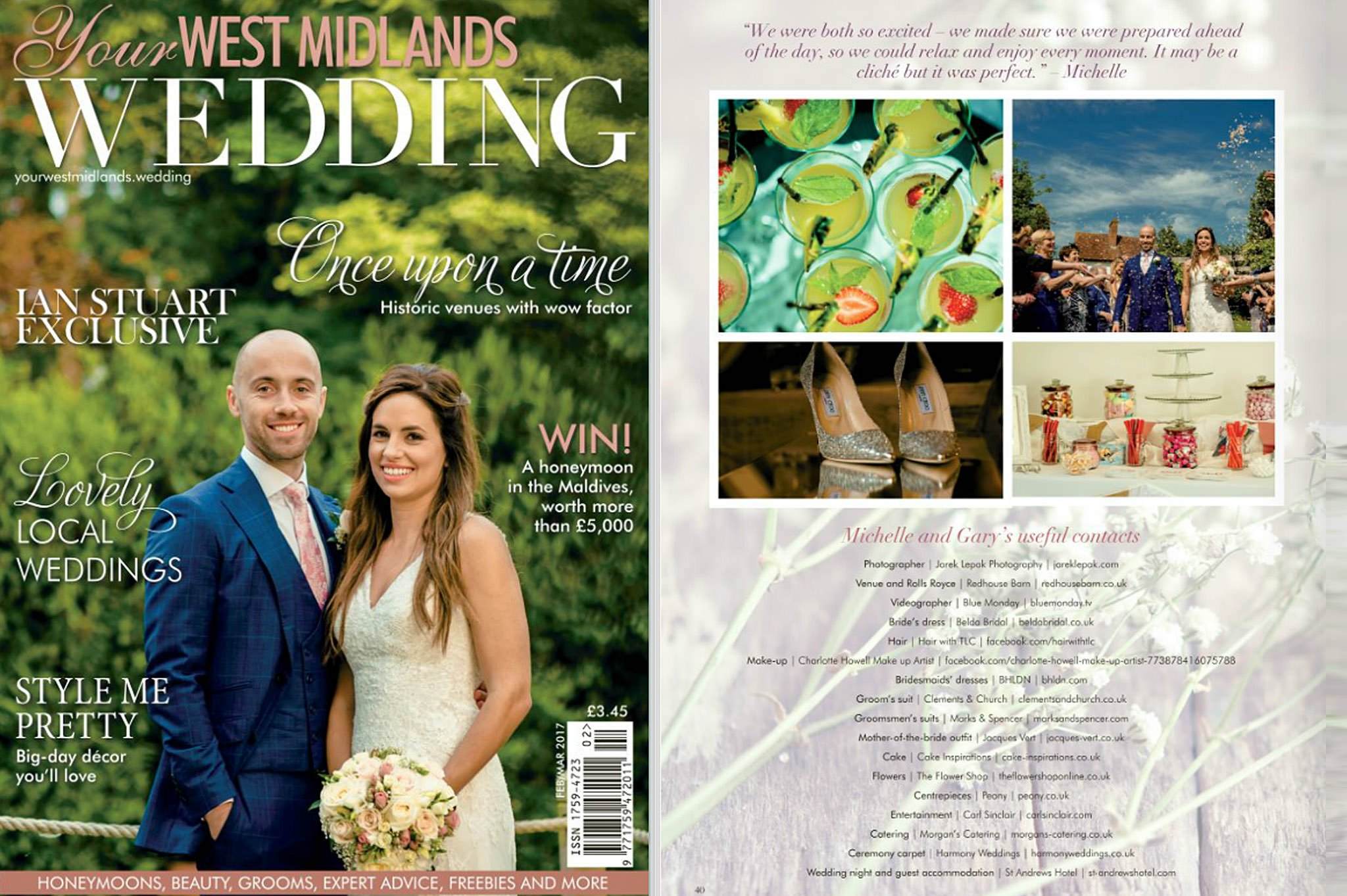 your west midlands wedding 1 - Gary & Michelle's special day featured in Your West Midlands wedding magazine