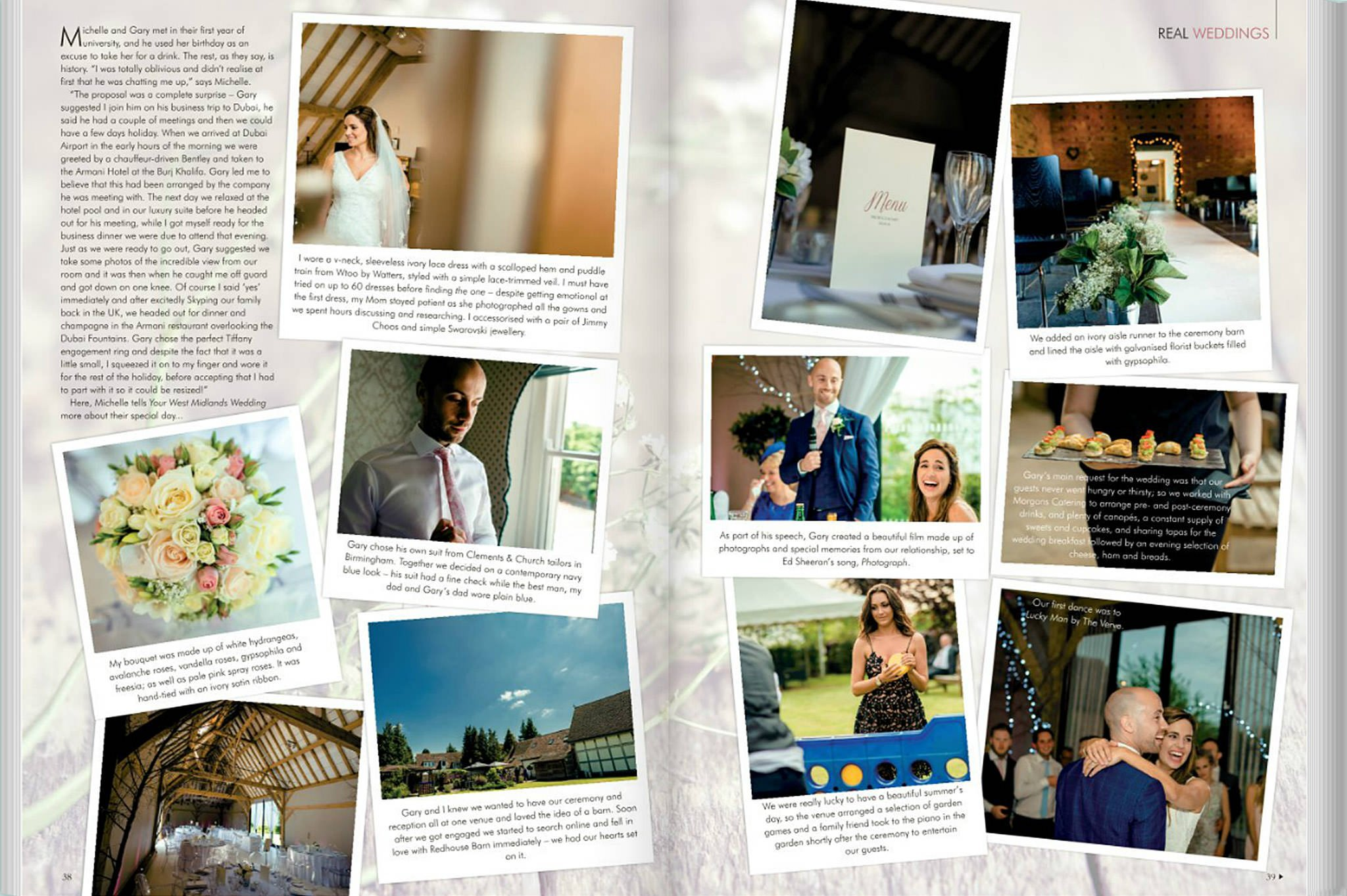 your west midlands wedding 2 - Gary & Michelle's special day featured in Your West Midlands wedding magazine