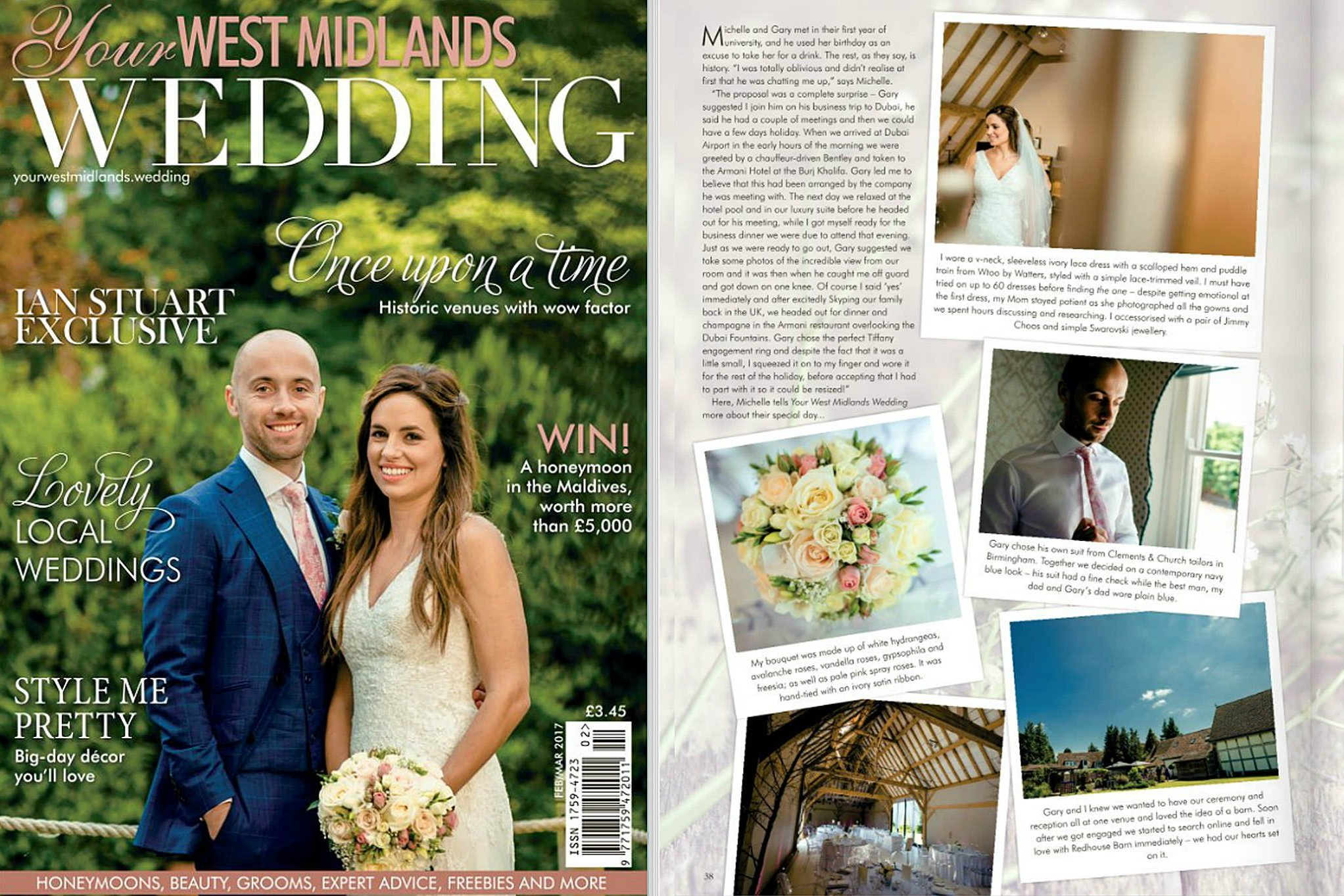 Gary & Michelle's special day featured in Your West Midlands wedding magazine 17