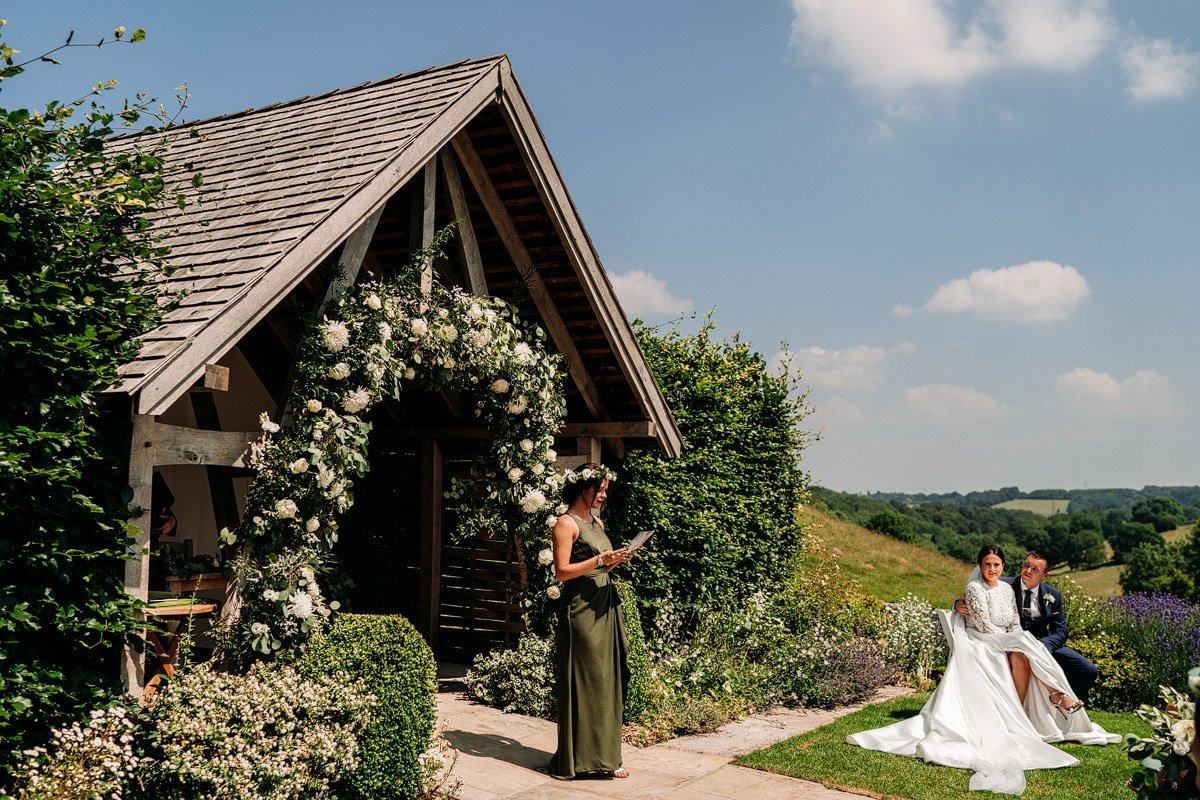 Kingscote Barn Wedding, Cotswolds 16