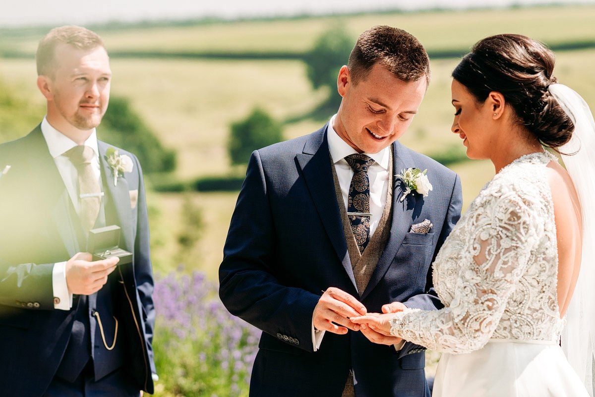 Kingscote Barn Wedding, Cotswolds 15